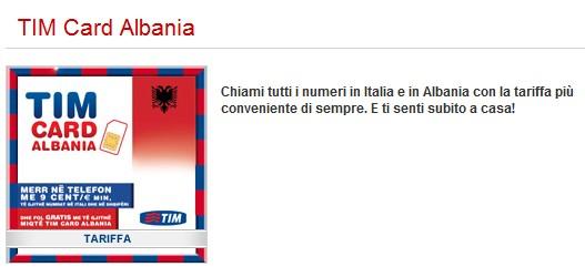 tim card albania