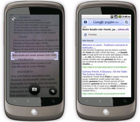 google goggles traduttore