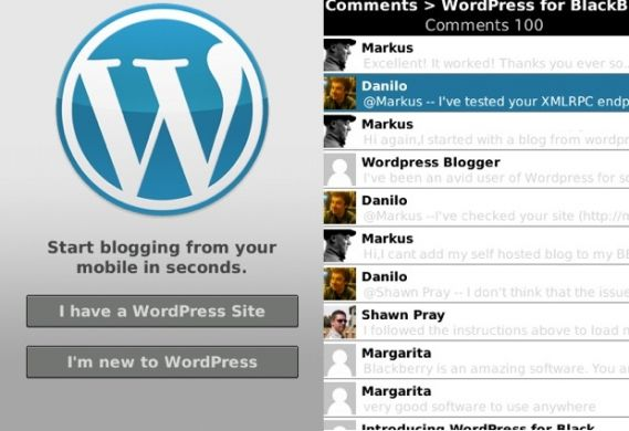 wordpress blackberry