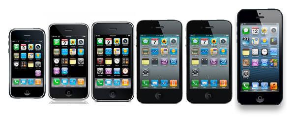 iPhone vecchi e nuovi